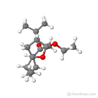 3D chemical structure image of (1R,2R,5S,8S,9R)-8-ethoxy-2-methyl-9-(propan-2-yl)-11-oxatricyclo[6.2.1.0^{1,5}]undecan-6-one