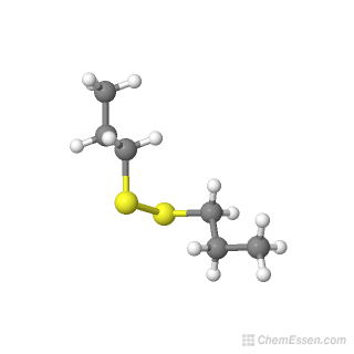 3D chemical structure image of Dipropyl disulfide