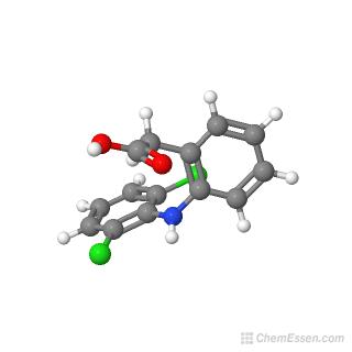 Diclofenac Structure C14h11cl2no2 Over 100 Million Chemical Compounds Mol Instincts