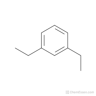 2D chemical structure image of 1,3-DIETHYLBENZENE