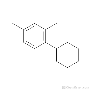 2D chemical structure image of 1-Cyclohexyl-2,4-dimethylbenzene