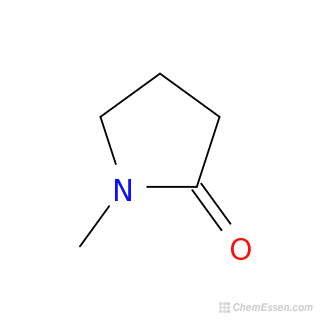 2D Chemical Structure Image Of 1 METHYL 2 PYRROLIDINONE