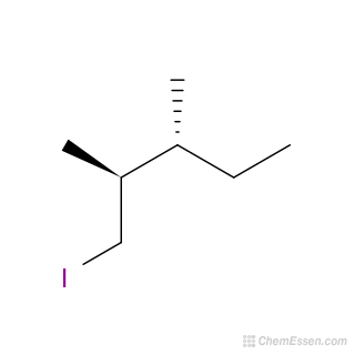 1 Iodo 2 3 Dimethylpentane Structure C7h15i Mol Instincts