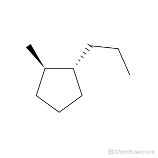 2D chemical structure image of 1-trans-2-methylpropylcyclopentane