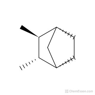 2D chemical structure image of (1R,2S,3S,4S)-2,3-dimethylbicyclo[2.2.1]heptane