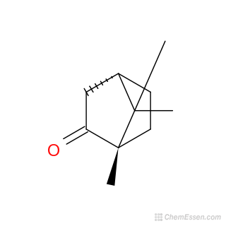 1S)-(-)-Camphor Structure - C10H16O - Over 100 million