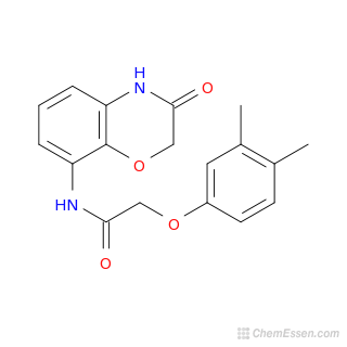 2D chemical structure image of 2-(3,4-dimethylphenoxy)-N-(3-oxo-3,4-dihydro-2H-1,4-benzoxazin-8-yl)acetamide