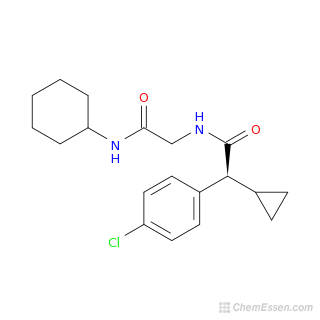 2D chemical structure image of 2-(4-chlorophenyl)-N-[(cyclohexylcarbamoyl)methyl]-2-cyclopropylacetamide