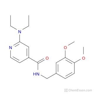 2-(diethylamino)-N-[(3,4-dimethoxyphenyl)methyl]pyridine-4