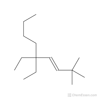 2D chemical structure image of (3E)-5,5-diethyl-2,2-dimethylnon-3-ene