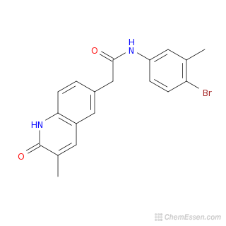 2D chemical structure image of N-(4-bromo-3-methylphenyl)-2-(3-methyl-2-oxo-1,2-dihydroquinolin-6-yl)acetamide