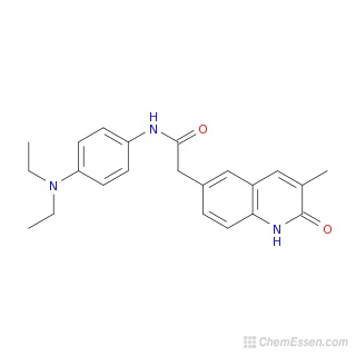 2D chemical structure image of N-[4-(diethylamino)phenyl]-2-(3-methyl-2-oxo-1,2-dihydroquinolin-6-yl)acetamide