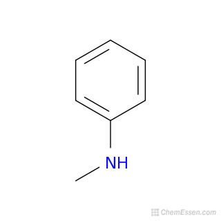2D chemical structure image of N-METHYLANILINE