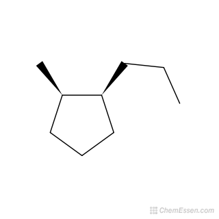 2D chemical structure image of cis-1-methyl-2-propylcyclopentane