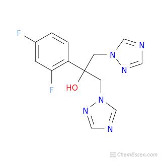 Fluconazole Molecular Weight C13h12f2n6o Over 100 Million Chemical Compounds Mol Instincts