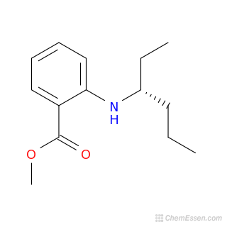 Chemical Formula of Methyl 2-(hexan-3-ylamino)benzoate ...  Methyl Benzoate Structural Formula