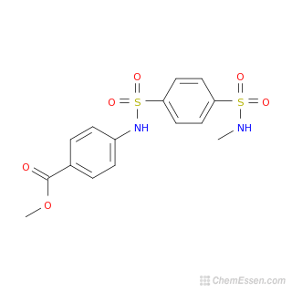 Methyl 4-{[4-(methylsulfamoyl)benzene]sulfonamido}benzoate ...  Methyl Benzoate Structural Formula