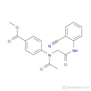 Chemical Formula of Methyl 4-(N-{[(2-cyanophenyl)carbamoyl ...  Methyl Benzoate Structural Formula